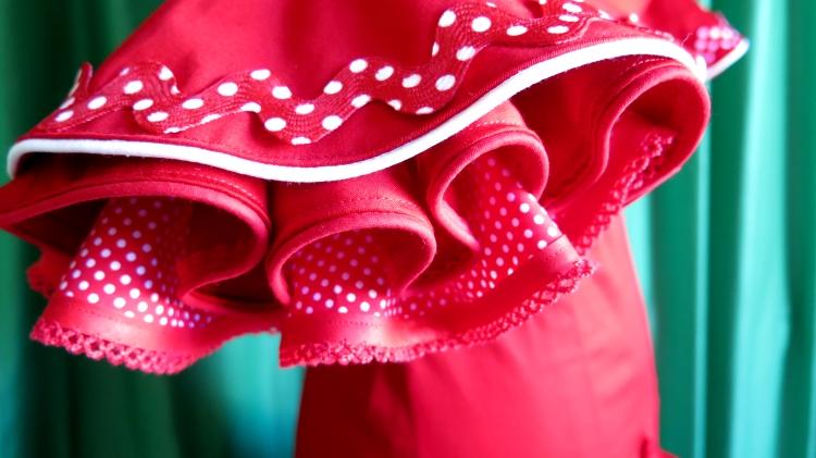 manga de un traje de flamenca