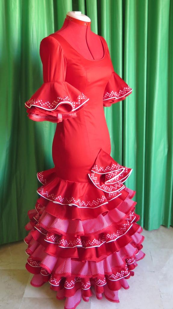 vestido de flamenca costura granada
