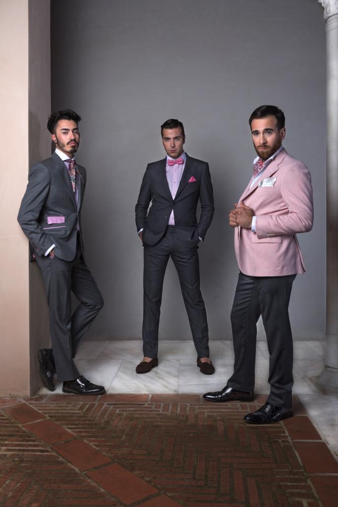 trajes de hombre rosa